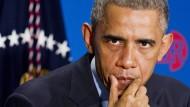Obama in großer Sorge