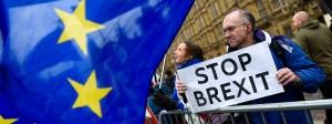 """Auch am Montag protestieren """"Remainers"""" wieder vor dem britischen Parlament in London."""