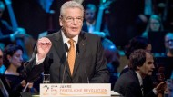 Gauck: Befreiung ist noch beglückender als Freiheit