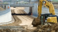 Umstritten bei Umweltschützern: Die neue Bundesstraße 96n auf der Insel Rügen
