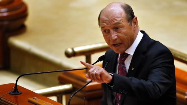 Parlament für Amtsenthebung Basescus