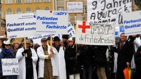 Patienten - streikende Fachärzte