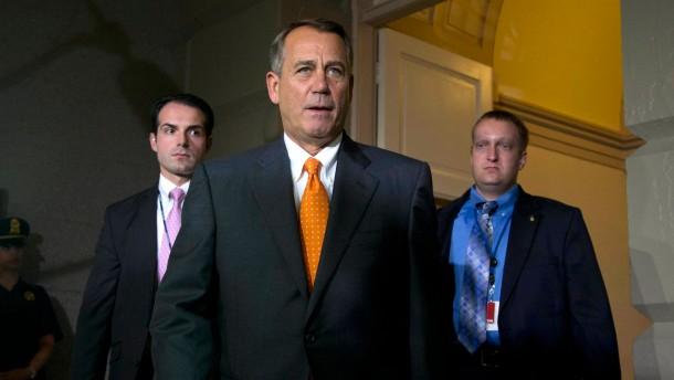 Boehner gesteht Niederlage ein