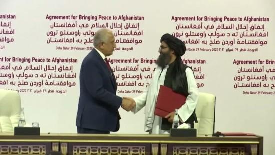 Amerikaner unterzeichnen Vertrag mit Taliban