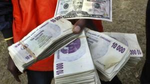 Zim-Dollar im Rinnstein
