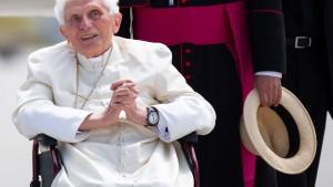 Benedikt XVI. auf dem Rückweg nach Italien