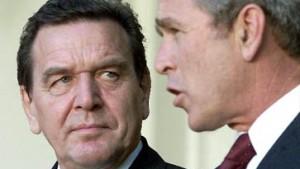 Bush: Ich freue mich auf Schröder