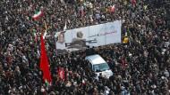 Zuletzt hat Iran demütigende Schläge einstecken müssen: Qassem Soleimani, der Kommandeur der Revolutionsgarden, wurde im Januar getötet.