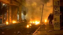 Ausschreitungen bei Gedenkmarsch in Athen