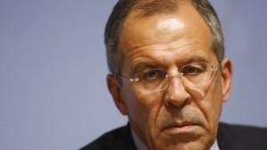Lawrow warnt vor Unterstützung für Saakaschwili