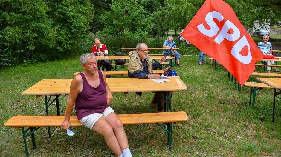 Besuche einer Wahlkampfveranstaltung des Spitzenkandidaten der SPD Brandenburgs, Dietmar Woidke, im Museumspark Rüdersdorf (Brandenburg) teil.