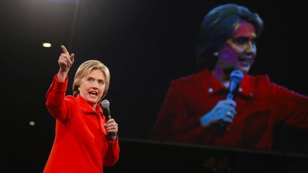 Hier herrscht die Clinton, dort das Chaos