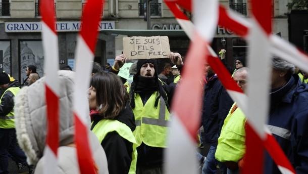 """""""Gelbwesten""""-Proteste in Frankreich schrumpfen auf Rekordtief"""