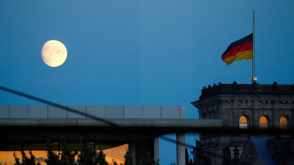 Der Himmel über Berlin am Abend des 28. Oktober