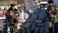 Bollwerk der Antidemokratie: Ein Checkpoint zwischen Moldau und Transnistrien nahe Odessa