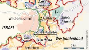 Karte / Israel und Westjordanland