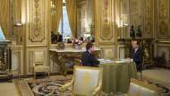 Der neue Premierminister Valls bespricht sich im Élysée mit dem Präsidenten Hollande