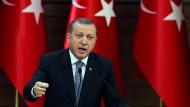 Der türkische Präsident Erdogan bei einer Rede am Mittwoch in Ankara