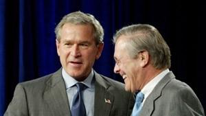 Bush: Kein Rücktritt von Rumsfeld