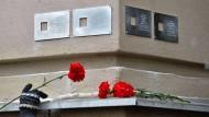 Stahltafeln für Stalins Opfer