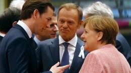 Kurz und Merkel wollen EU neu ausrichten