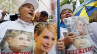Unterstützer demonstrieren für Julija Timoschenko