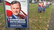 Beschmierte Wahlplakate von Norbert Hofer (FPÖ)