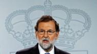 Katalonien steht nun unter seiner direkten Kontrolle. Spaniens Ministerpräsident Adriano Rajoy