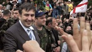 Der georgische Präsident Saakaschwili wird in Batumi gefeiert