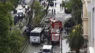Bombenanschlag auf Polizeibus in Istanbul