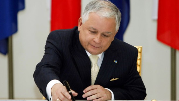 Kaczynski ratifiziert Lissabon-Vertrag