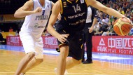 Stark, aber kein Alleinunterhalter: Dirk Nowitzki gegen Italiens Danilo Gallinari