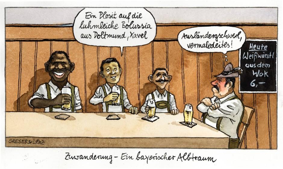 karikatur greser und lenz armutseinwanderung zuwanderung ein bayrischer alptraum witze f r. Black Bedroom Furniture Sets. Home Design Ideas