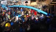 Zahlreiche Eingeschlossene bei Bergwerksunglück