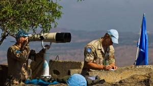 UN-Soldaten eingekesselt