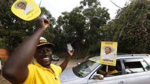 Präsident Museveni abermals wiedergewählt