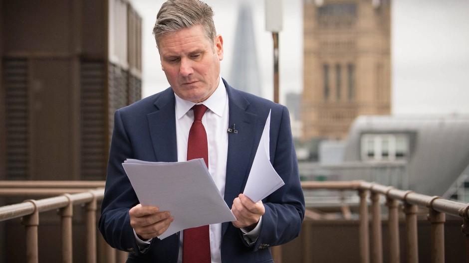 Der Vorsitzende der britischen Oppositionspartei Labour, Keir Starmer