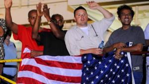 Amerikanischer Kapitän wird als Held gefeiert