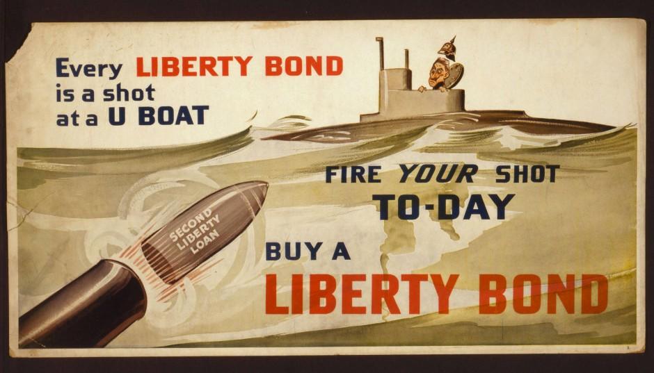 Amerikanische Propaganda zum Kauf der zweiten Kriegsanleihe 1917