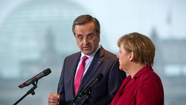 Kanzlerin Merkel trifft Samaras