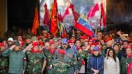 Wer hält noch zu ihm? Venezuelas Machthaber Nicolas Maduro am Montag in Caracas
