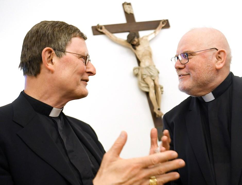 Im Zwiespalt: Der Münchner Erzbischof Reinhard Kardinal Marx (r.) und der Kölner Erzbischof Rainer Maria Woelki.