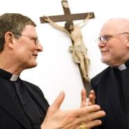 Kardinal Reinhard Marx (r.) und sein Gegenspieler, der Kölner Kardinal Rainer Maria Woelki