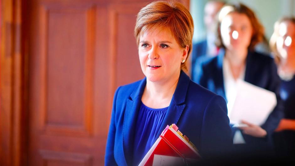 Schottlands Ministerpräsidentin Nicola Sturgeon am Mitwoch in Berlin