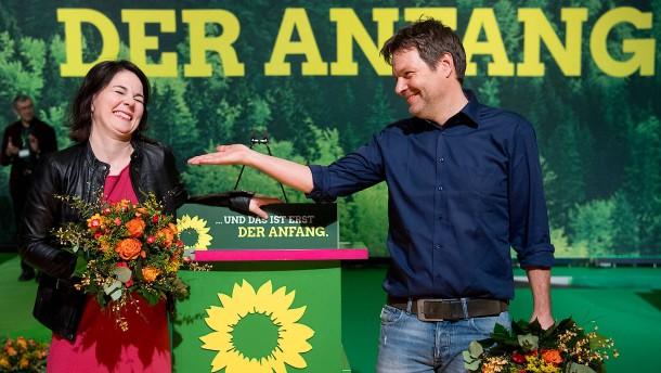 Baerbock und Habeck zu Grünen-Vorsitzenden gewählt