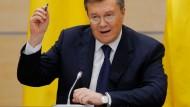 """""""Von allen Seiten"""" beschossen: Viktor Janukowitsch in Rostow am Don"""