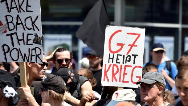 Steigende Spannung vor G-7-Treffen