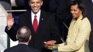 Obama wird als 44. Präsident der Vereinigten Staaten vereidigt