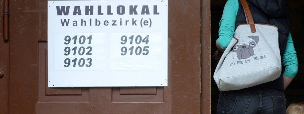 Wahl ohne Wähler: Die Beteiligung bei der Landtagswahl in Sachsen wie hier in Chemnitz war so niedrig wie noch nie.