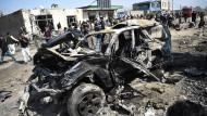 Selbstmordanschläge mit Fahrzeugen wie am 17. März in Kabul zählen zu den typischen Taktiken der Taliban.